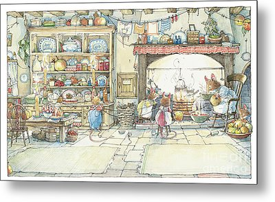 The Kitchen At Crabapple Cottage Metal Print by Brambly Hedge