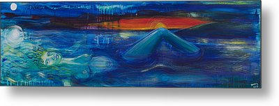The Lady Of The Lake Metal Print by Solveig Katrin
