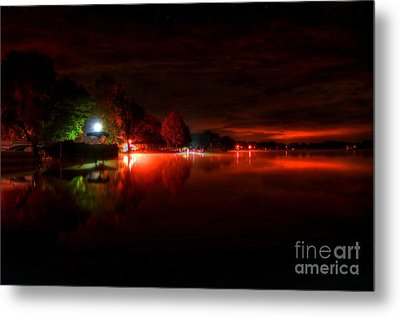 The Lake At Nightfall Metal Print by Michael Garyet