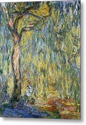 The Large Willow At Giverny Metal Print by Claude Monet