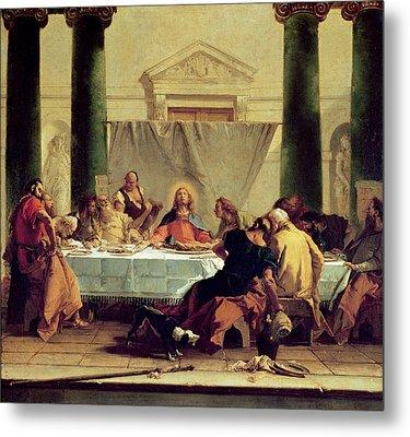 The Last Supper Metal Print by Giovanni Battista Tiepolo