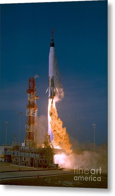 The Launch Of The Mercury Atlas Metal Print by Stocktrek Images