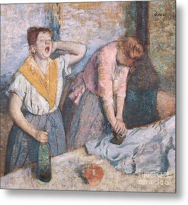 The Laundresses Metal Print by Edgar Degas
