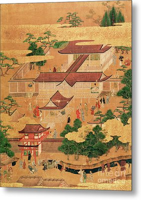 The Life And Pastimes Of The Japanese Court - Tosa School - Edo Period Metal Print by Japanese School