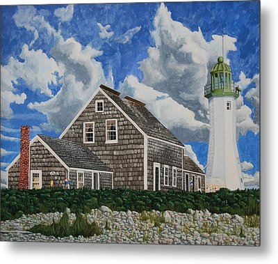 The Light Keeper's House Metal Print by Dominic White