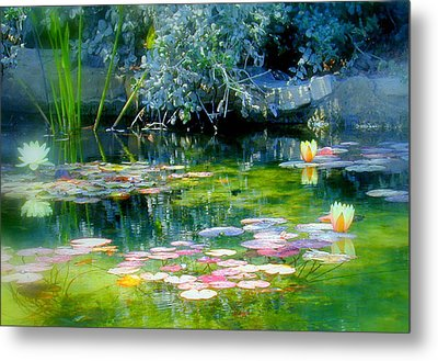 The Lily Pond I Metal Print by Lynn Andrews