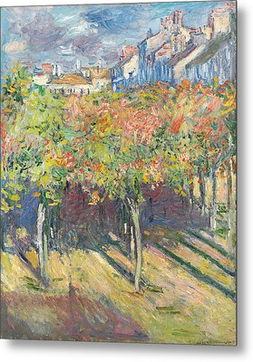 The Lime Trees At Poissy Metal Print by Claude Monet
