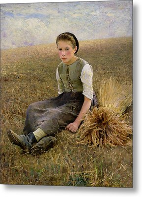 The Little Gleaner Metal Print by Hugo Salmon
