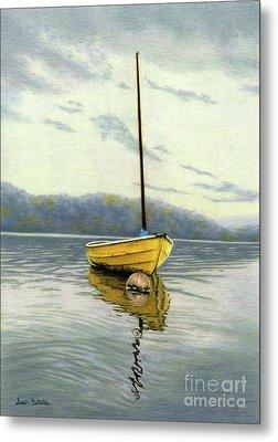 The Yellow Sailboat Metal Print by Sarah Batalka