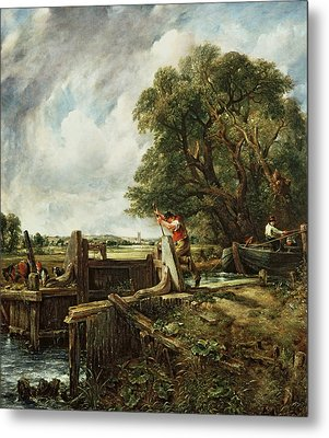 The Lock Metal Print by John Constable