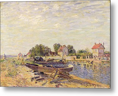 The Loing At Saint Mammes 1885 Metal Print by Alfred Sisley
