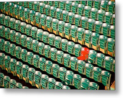 The Lone Red Seat Metal Print by Claude Taylor