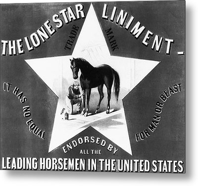 The Lonestar Liniment Metal Print by Digital Reproductions
