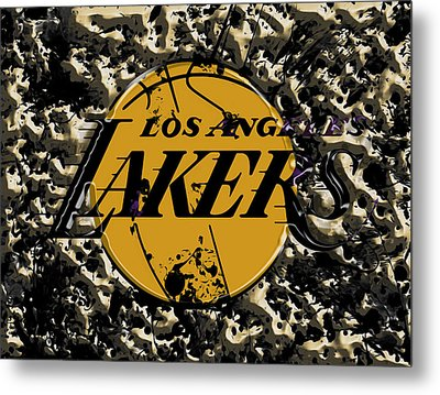 The Los Angeles Lakers B3a Metal Print by Brian Reaves