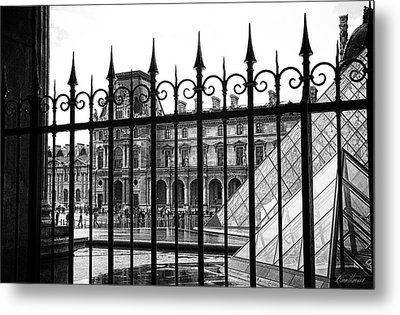 The Louvre Metal Print by Diana Haronis