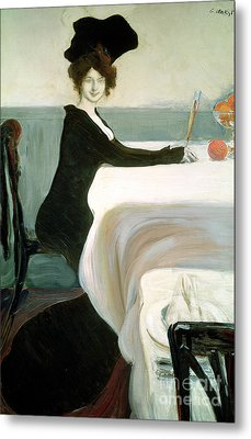 The Luncheon Metal Print by Leon Bakst