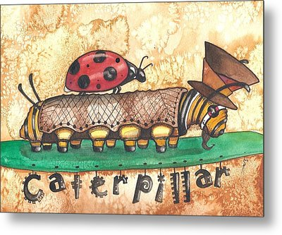 The Mad Caterpillar Metal Print by Sheri Athwal