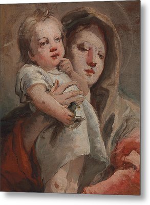 The Madonna And Child With A Goldfinch Metal Print by Tiepolo
