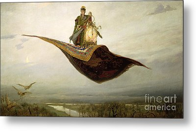 The Magic Carpet Metal Print by Apollinari Mikhailovich Vasnetsov