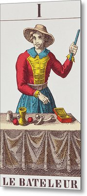 The Magician Tarot Card Metal Print by French School