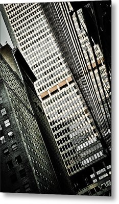 The Man Made Abstract Metal Print by Irvin Kelly