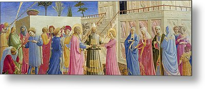 The Marriage Of The Virgin Metal Print by Fra Angelico