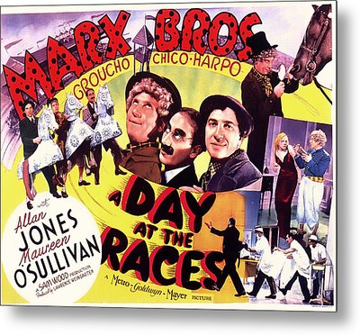 The Marx Bros - A Day At The Races 1927 Metal Print by Mountain Dreams