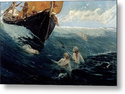 The Mermaid's Rock Metal Print by Edward Matthew Hale