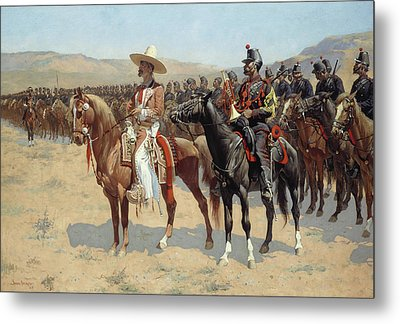 The Mexican Major Metal Print by Frederic Remington