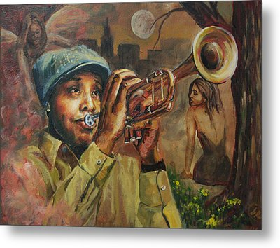 The Midnight Muse 2.1 Metal Print by Gary Williams