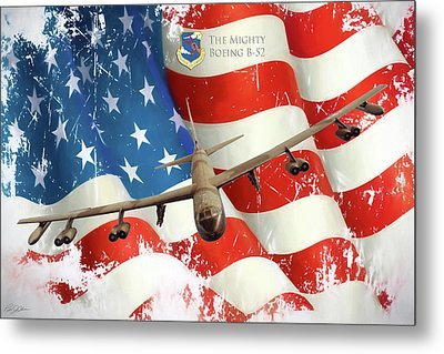 The Mighty B-52 Metal Print by Peter Chilelli