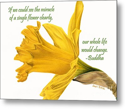 The Miracle Of A Single Flower Metal Print by Sarah Batalka