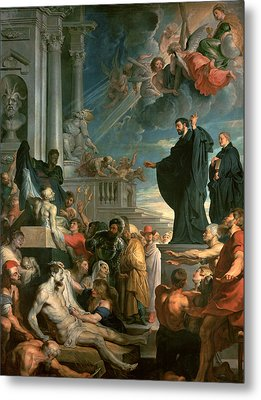 The Miracles Of St. Francis Xavier Metal Print by Peter Paul Rubens