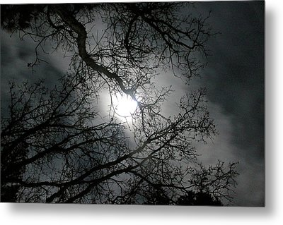 The Moon Prevails  Metal Print by Angie Wingerd
