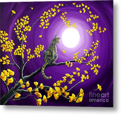 The Moon Shone Upon Me Metal Print by Laura Iverson