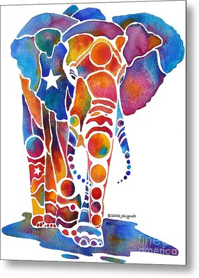 The Most Whimsical Elephant Metal Print by Jo Lynch