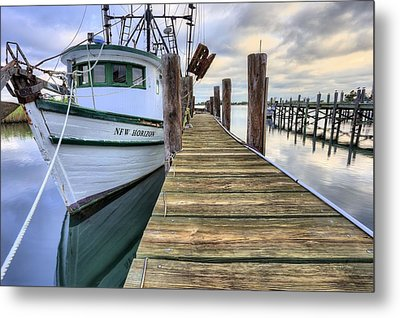 The New Horizon Shrimp Boat Metal Print by JC Findley