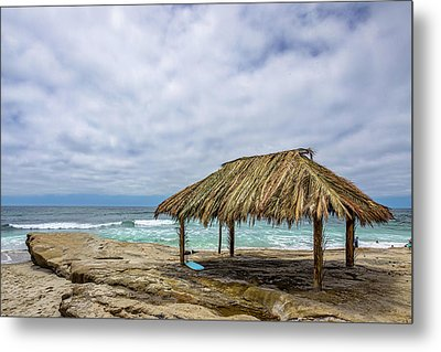 The New Surf Hut At Windandsea Metal Print by Peter Tellone