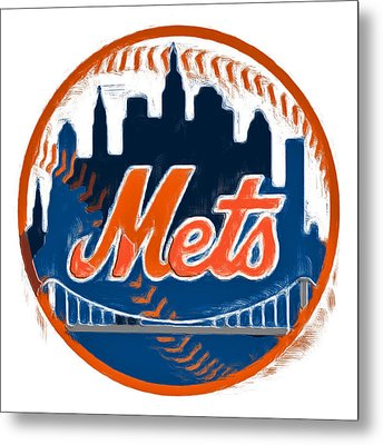 The New York Mets Metal Print by Brian Reaves