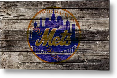 The New York Mets W1 Metal Print by Brian Reaves