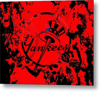 The New York Yankees 1a Metal Print by Brian Reaves