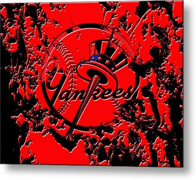 The New York Yankees B1 Metal Print by Brian Reaves