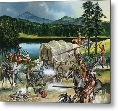 The Nez Perce Metal Print by Ron Embleton