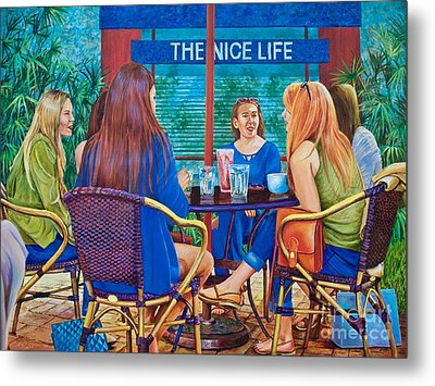 The Nice Life Metal Print by AnnaJo Vahle