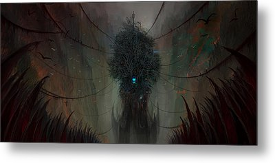 The Nightmare Factory Metal Print by Philip Straub