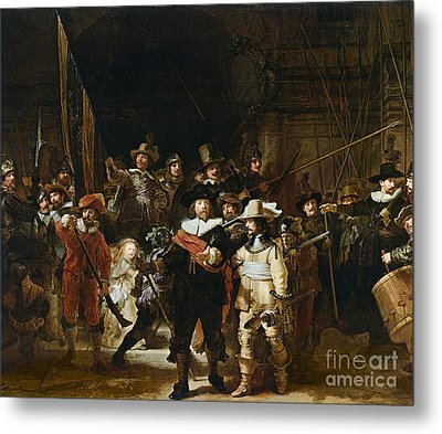 The Nightwatch Metal Print by Rembrandt