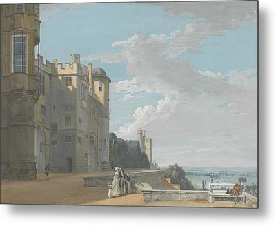 The North Terrace, Windsor Castle, Looking West Metal Print by Paul Sandby