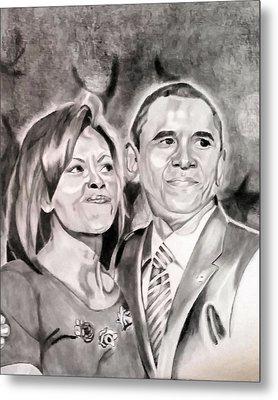 The Obamas Metal Print by Nina Carpenter