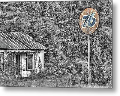 The Old 76 Gas Station Metal Print by JC Findley