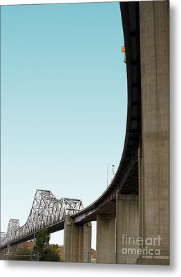 The Old Carquinez Bridge . 7d8832 Metal Print by Wingsdomain Art and Photography